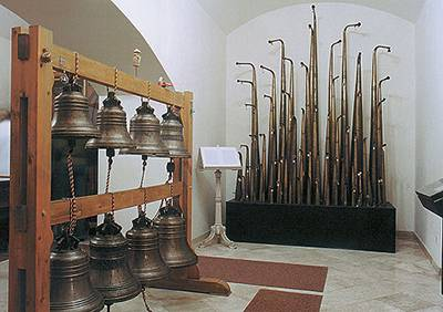 Bells and horns in Instrument museum