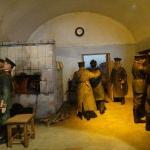 Men in prison room in Peter and Paul Fortress