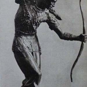 ballet dancer with bow and arrow
