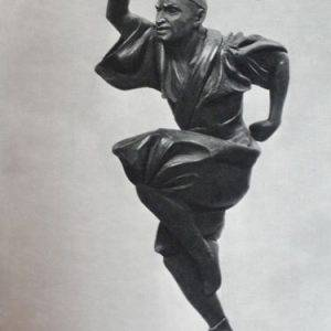 Statue of male russian ballet dancer