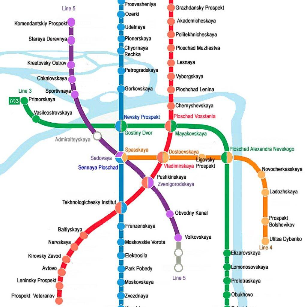 Saint Petersburg Russia Subway Map.St Petersburg Metro Dancing Bear Tours