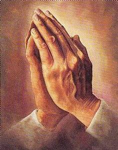 hands together for praying