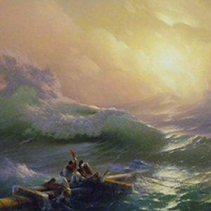 Aivazovskiy Painting the Ninth Wave