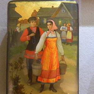 lacquer art of man and woman