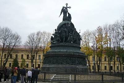 Monument in the kremlin at Veliky Novgorod