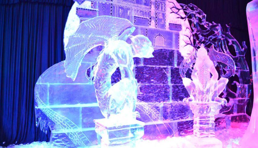 Ice Sculpture of castle