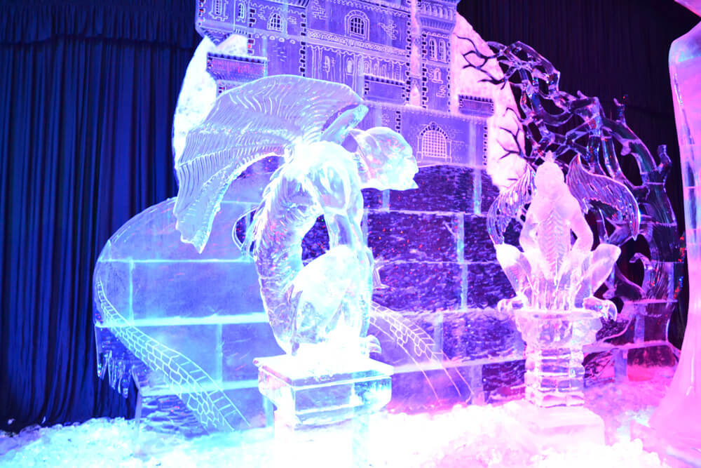 Ice Sculpture of castle