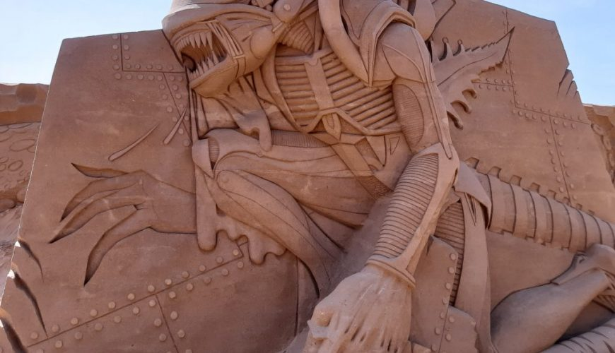 sand sculpture of some creature